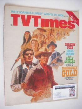 TV Times magazine - Mackenna's Gold cover (13-19 November 1976)