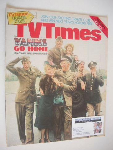 <!--1976-11-20-->TV Times magazine - Yanks Go Home cover (20-26 November 19