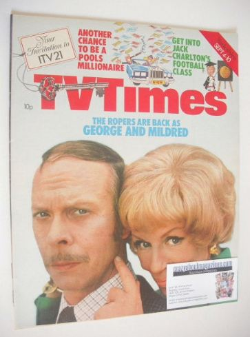 <!--1976-09-04-->TV Times magazine - George and Mildred cover (4-10 Septemb