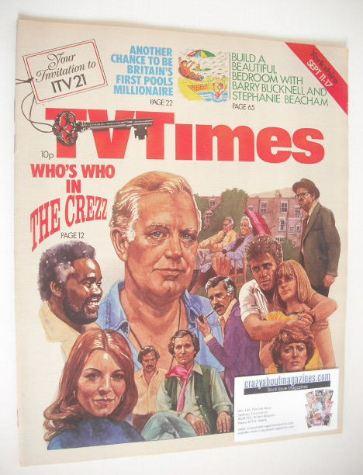 <!--1976-09-11-->TV Times magazine - The Crezz cover (11-17 September 1976)