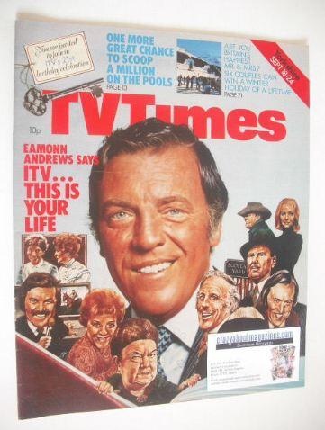 <!--1976-09-18-->TV Times magazine - Eamonn Andrews cover (18-24 September
