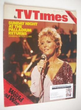 TV Times magazine - Petula Clark cover (27 October - 2 November 1973)