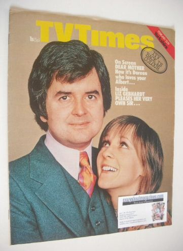 <!--1971-02-13-->TV Times magazine - Liz Gebhardt and Rodney Bewes cover (1