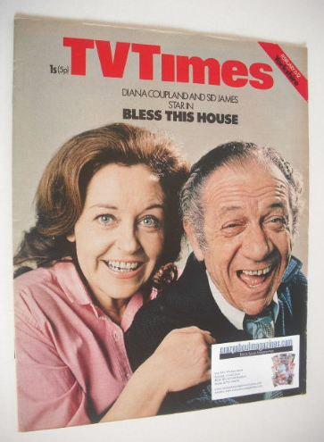 <!--1971-02-06-->TV Times magazine - Diana Coupland and Sid James cover (6-