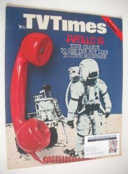 TV Times magazine - Moonbase cover (30 January - 5 February 1971)