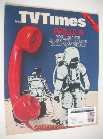 <!--1971-01-30-->TV Times magazine - Moonbase cover (30 January - 5 Februar