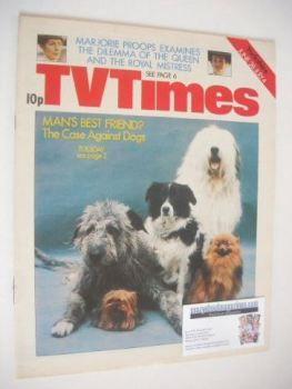 TV Times magazine - Man's Best Friend cover (28 June - 4 July 1975)