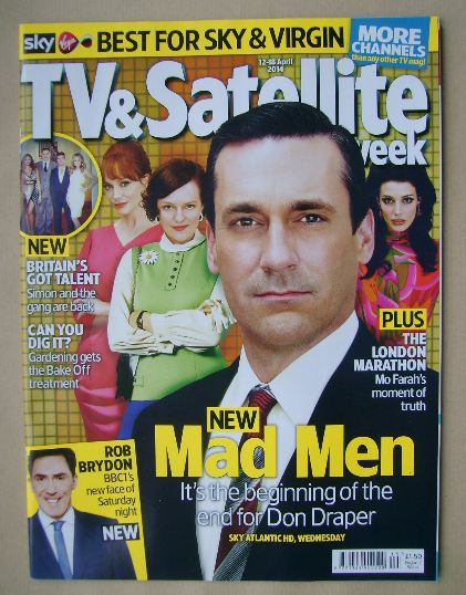 <!--2014-04-12-->TV&Satellite Week magazine - Mad Men cover (12-18 April 20