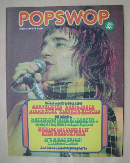 <!--1973-10-20-->Popswop magazine - 20 October 1973 - Rod Stewart cover