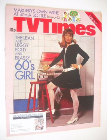 <!--1975-06-21-->TV Times magazine - The 1960s Girl cover (21-27 June 1975)