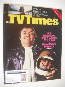 TV Times magazine - Les Dawson cover (14-20 June 1975)