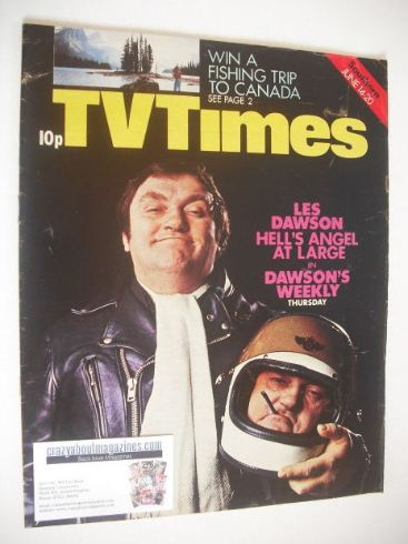 <!--1975-06-14-->TV Times magazine - Les Dawson cover (14-20 June 1975)