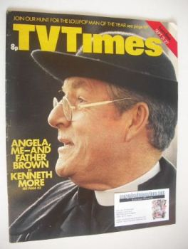 TV Times magazine - Kenneth More cover (21-27 September 1974)