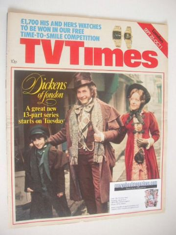 <!--1976-09-25-->TV Times magazine - Dickens of London cover (25 September
