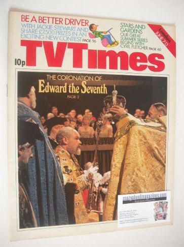 <!--1975-06-07-->TV Times magazine - Edward the Seventh cover (7-13 June 19