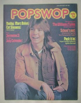 Popswop magazine - 30 June 1973 - David Cassidy cover