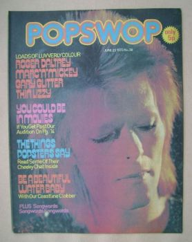 Popswop magazine - 23 June 1973 - David Bowie cover