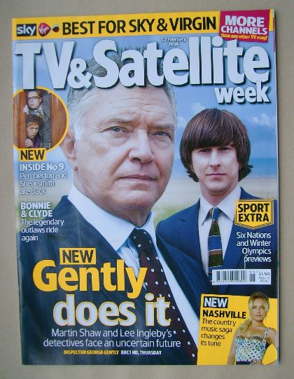 <!--2014-02-01-->TV&Satellite Week magazine - Martin Shaw and Lee Ingleby c