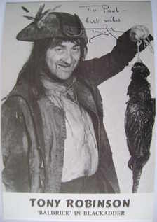 Tony Robinson autograph (hand-signed photograph)