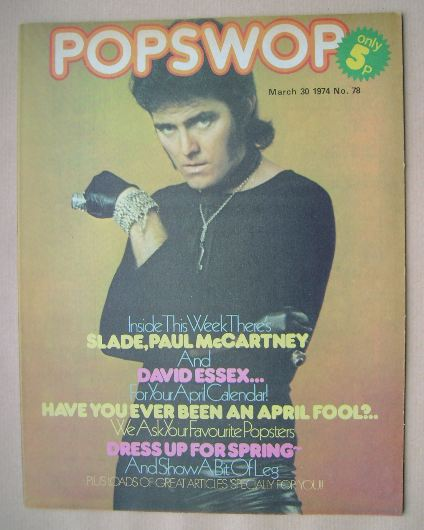 <!--1974-03-30-->Popswop magazine - 30 March 1974 - Alvin Stardust cover