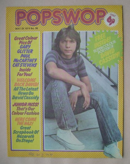 <!--1974-05-25-->Popswop magazine - 25 May 1974 - David Cassidy cover