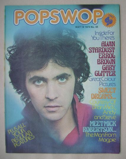 <!--1974-05-18-->Popswop magazine - 18 May 1974 - David Essex cover