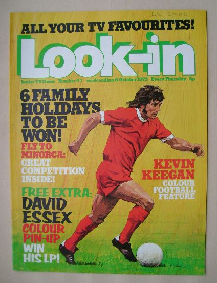 <!--1973-10-06-->Look In magazine - Kevin Keegan cover (6 October 1973)