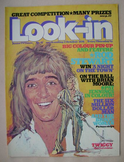 <!--1976-10-02-->Look In magazine - Rod Stewart cover (2 October 1976)