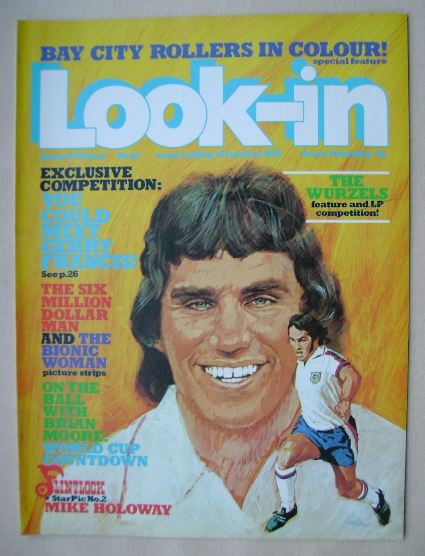 <!--1976-10-16-->Look In magazine - Gerry Francis cover (16 October 1976)