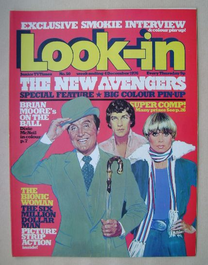 <!--1976-12-04-->Look In magazine - New Avengers cover (4 December 1976)