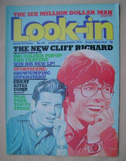 <!--1976-07-10-->Look In magazine - Cliff Richard cover (10 July 1976)