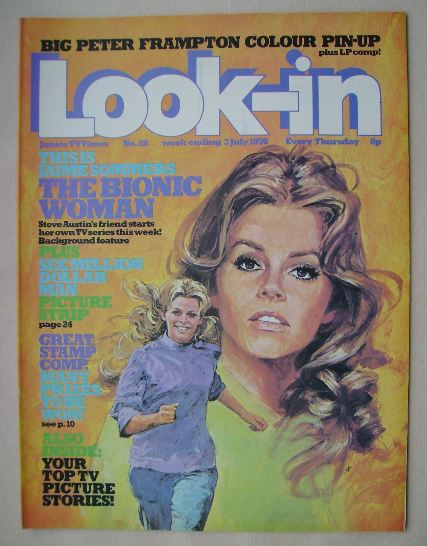 <!--1976-07-03-->Look In magazine - The Bionic Woman cover (3 July 1976)