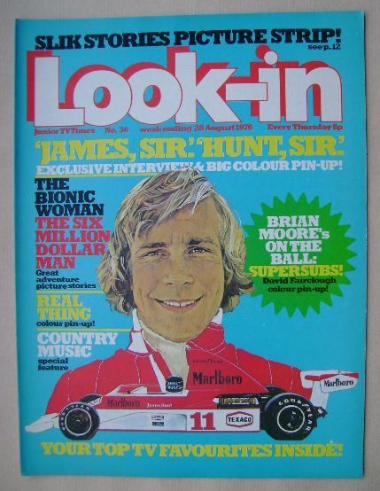 <!--1976-08-28-->Look In magazine - James Hunt cover (28 August 1976)
