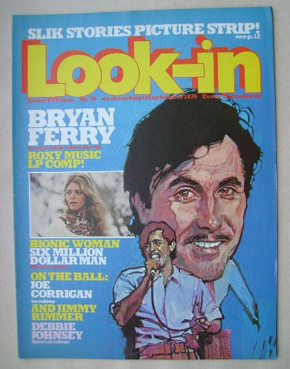 <!--1976-09-11-->Look In magazine - Bryan Ferry cover (11 September 1976)
