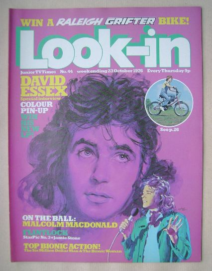 <!--1976-10-23-->Look In magazine - David Essex cover (23 October 1976)