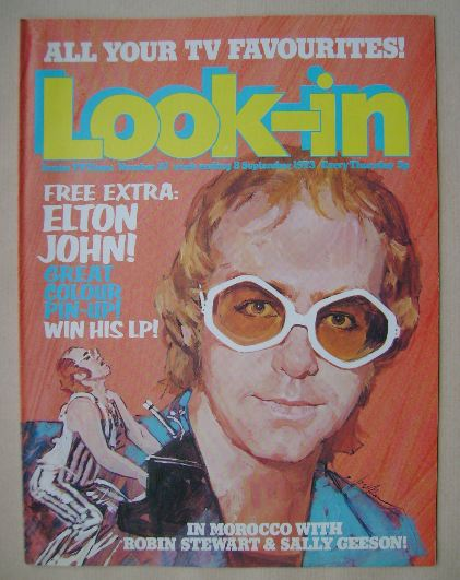 <!--1973-09-08-->Look In magazine - Elton John cover (8 September 1973)