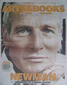The Independent Arts&Books newspaper supplement - Paul Newman cover (26 Mar