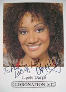 Tupele Dorgu autograph (ex Coronation Street actor)