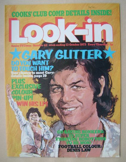 Look In Magazine Gary Glitter Cover 13 October 1973
