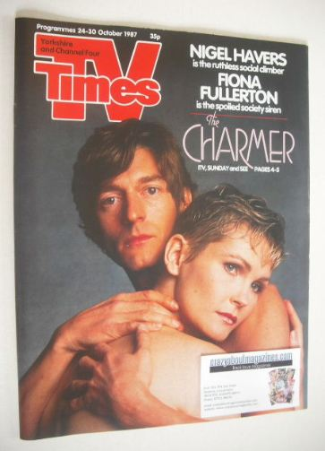 <!--1987-10-24-->TV Times magazine - Nigel Havers and Fiona Fullerton cover