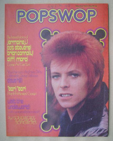 Popswop Magazine 17 March 1973 David Bowie Cover