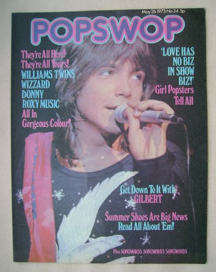 <!--1973-05-26-->Popswop magazine - 26 May 1973 - David Cassidy cover