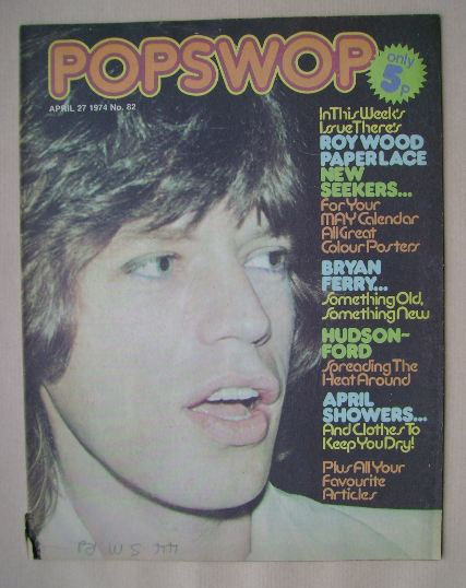<!--1974-04-27-->Popswop magazine - 27 April 1974 - Mick Jagger cover