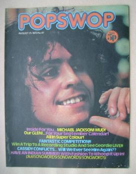 Popswop magazine - 25 August 1973 - Marc Bolan cover