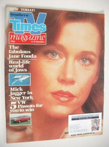 <!--1981-10-03-->TV Times magazine - Jane Fonda cover (3-9 October 1981)