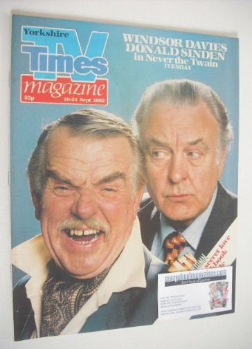 <!--1982-09-18-->TV Times magazine - Windsor Davies and Donald Sinden cover