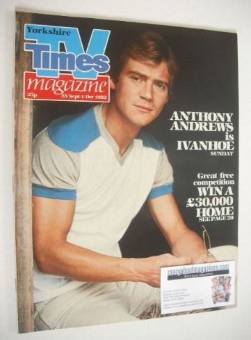<!--1982-09-25-->TV Times magazine - Anthony Andrews cover (25 September -