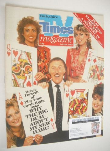 <!--1982-10-02-->TV Times magazine - Play Your Cards Right cover (2-8 Octob