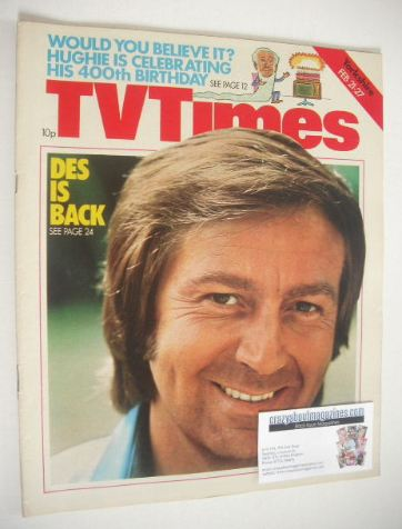 <!--1976-02-21-->TV Times magazine - Des O'Connor cover (21-27 February 197