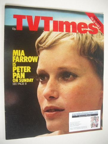 <!--1976-02-28-->TV Times magazine - Mia Farrow cover (28 February - 5 Marc